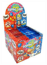 Full Box of 50 Crazy Candy Factory Popping Candy Strawberry + Blue Raspberry