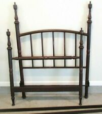 Antique 1800's Simmons Dark Iron Metal Twin Bed Headboard, Footboard Siderails
