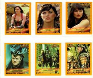 HERCULES & XENA MERLIN COMPLETE CARD SET & STICKER SET IN ALBUM BINDER - RARE