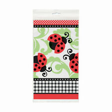 """""""LIVELY LADYBUG"""" Party Supplies Plastic TABLECOVER"""