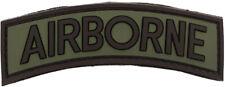 Airborne Shoulder Patch - PVC Olive US Badge Hook and Loop Backing
