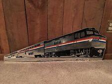 Rare Amtrack 250 Superliner Coach 34000 Trail Locomotive Cardboard Sign Train