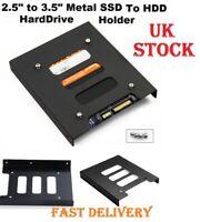 2.5 to 3.5 Inch SSD HDD Metal Hard Drive Mount Bracket Adapter Black Holder UK