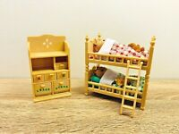 Sylvanian Families Childrens Bedroom Bunk Bed Walnut Squirrel Twins Alfie Alyssa