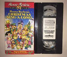 Hanna-Barberas Christmas Sing-Along (VHS, 1995) THE FLINSTONES JETSONS YOGI BEAR