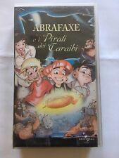 ABRAFAXE E I PIRATI DEI CARAIBI - VHS Kassette Italien - unter schwarzer Flagge