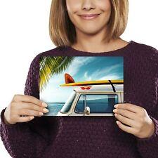A5 - Beach Camper Van Surf Bus Print 21x14.8cm 280gsm #8200