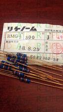 1pc RIKEN RMG  0.5W(1/2W) 300R 5% Gold plated Carbon Film Resistor #G2493 XH
