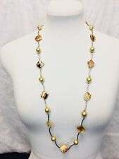 Vintage 80's Festival Boho Hippie Faux Pearl And Abalone Necklace.