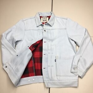 Levis Made Crafted Plaid Lined Type Trucker Jacket Mens Medium