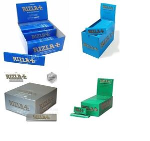 RIZLA GREEN SILVER BLUE  Cigarette Rolling Papers
