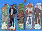 BOOKMARK lot - Yoda Han Solo Leia Boushh Wicket Ewok Ackbar - '83 vtg Star Wars