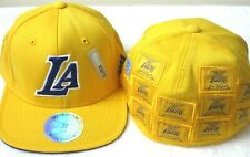 Adidas Los Angeles Lakers 16 x NBA Champions Flex Hat Cap Gold Small Medium NR