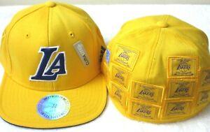 Adidas Los Angeles Lakers 16 x NBA Champions Flex Hat Cap Gold Small Medium NWT