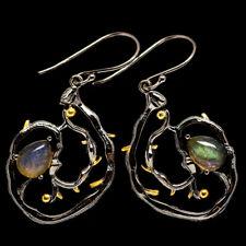 "Labradorite 925 Sterling Silver Earrings 1 3/4"" Ana Co Jewelry E403801F"