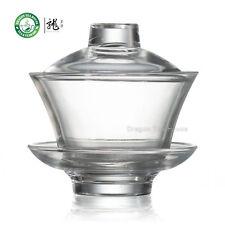 High Grade Large Traditional Gongfu Tea Clear Glass Gaiwan 170ml 5.75 oz