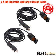 2 X 3M 12v Cigarette lighter Extension Socket  Adapter Socket Charger Lead C0111