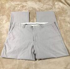 Mens J CREW Blue White Stripe Cotton Pants 36 X 30 Nautical Striped Chino