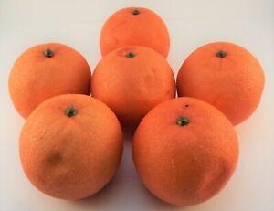 Aleko 6AFORG Decorative Fake Oranges Fruit 6 Pack