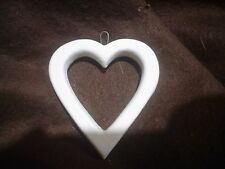 F189-Ceramic Bisque Heart/ Valentine with Hole in Center -Flat-Ready to Paint