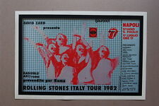 The Rolling Stones Tour poster 1982 Italy