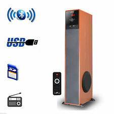 beFree Luxury Sound Bluetooth Tower Home Audio Speaker Wood New Free Shipping
