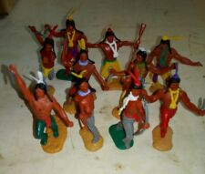 Timpo toys. 10 indiens. Lot 10IND. Démontables. 1/32.