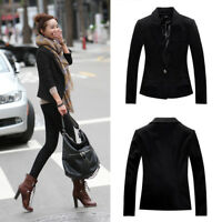 Women Lady Long Sleeve Slim Business Work Blazers Casual Suits Coat Outwear
