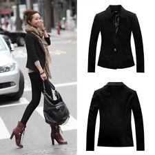 Fashion Women Slim Fit Casual Smart Jersey Blazer Ladies Office Jacket Coat Suit