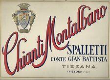 Cartello da Parete Chianti Montalbano Tizzana  - Poster Pubblicitario anni '60