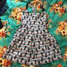 Gorgeous Hippie Festival Boho Chic Zara TRF TRAFALUC Pineapple Dress Small