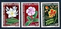 Niger MiNr. 91-93 postfrisch MNH Blumen (Z2246