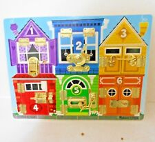 """Melissa & Doug Deluxe Latches Board Counting Animals 15.5"""" x 11.5"""" Hand crafted"""