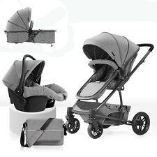 Baby Stroller 3 in 1 High view travel system Pram folding pushchair&Car Seat