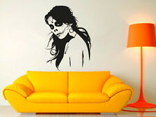 Wall Decal Vinyl Sticker Sugar Skull Tattoo girl Face Makeup Pattern  r1055