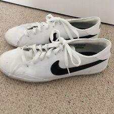 Zapatillas para hombre Nike Cuero Blanco Con Garrapata Negro Tamaño 8 Bomba de encaje señoras