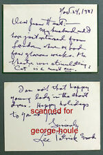 LEE PATRICK - LETTER - SIGNED - MALTESE FALCON - AUNTIE MAME - TOPPER
