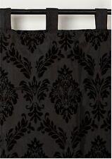 Vorhang Dekoschal Schlaufenschal schwarz  *Ornament Barock* Satin  250 x 140 cm
