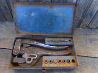 Vintage Parker Kalon Corp Metal Punch Tool NY USA incomplete