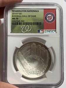 2014 Baseball HOF HALL FAME  Silver $1  NGC MS70 Washington Nationals