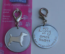 JACK RUSSEL ID TAG - JACK RUSSEL PET DOG TAG HAND OR MACHINE ENGRAVED FREE