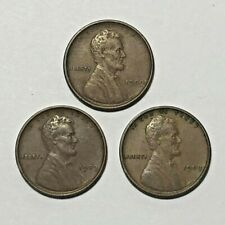 Lot of 3 Circulated 1909 VDB Lincoln Cent Pennies 1st Year Issue ~ VF & XF