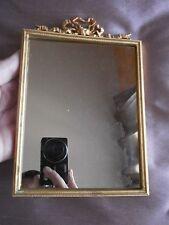 Miroir ou cadre porte photo métal doré style Louis XVI à Noeud Marie Antoinette