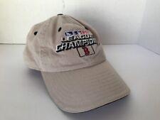 New Era League Champions Boston Hat Cap 2004 World Series One Size Beige Strap