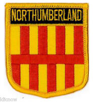 Northumberland (Shield) Embroidered Patch 6CM X 7CM Sew or Iron On