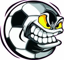 """Soccer Ball 4"""" by 3.8"""" - Window Sticker, Bumper"""
