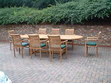 """TEAK GARDEN FURNITURE """"DEAUVILLE"""" GIANT OVAL STACKING QUALITY HUMBER TEAK PATIO"""