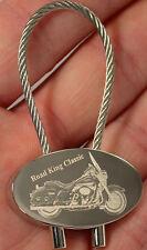 Harley Davidson Road King Classic Schlüsselanhänger Fotogravur Keyring HD Gravur