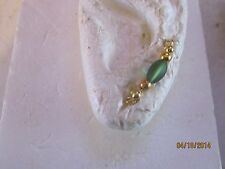Pair Gold or Silver Dark Frosted Green Ear Vines, Sweeps, Pins Earrings #13