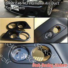 Hamman Style Air Duct Fog Light Covers (ABS) Fits 01-06 BMW E46 M3 Only